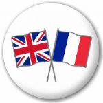 Great Britain and France Friendship Flag 25mm Pin Button Badge